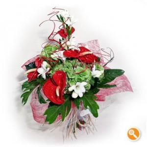 Bouquet com anturios - Sedutor