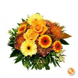 Bouquet com gerberas e rosas - Sintonia