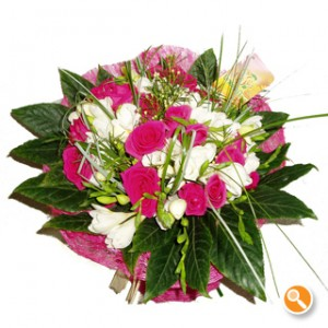 Bouquet com rosas - Solsticio de Primavera
