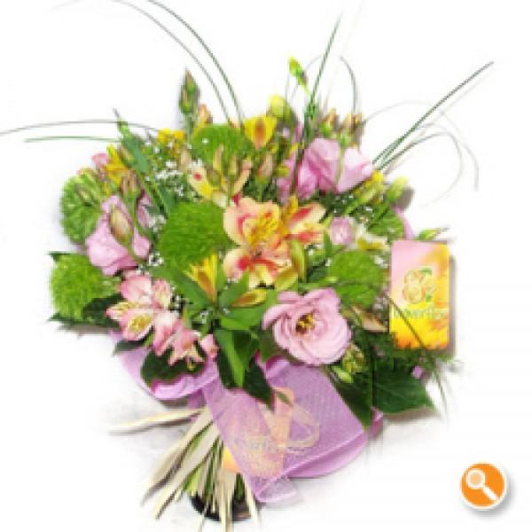 Bouquet de Alstromerias e lisiantos