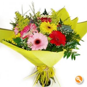 Bouquet de gerberas coloridas - Primavera