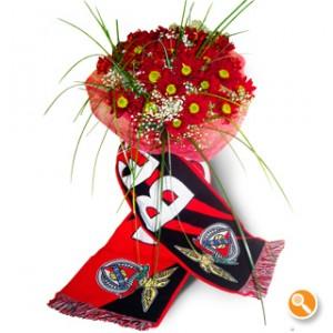 Bouquet de margarida vermelha - Benfica
