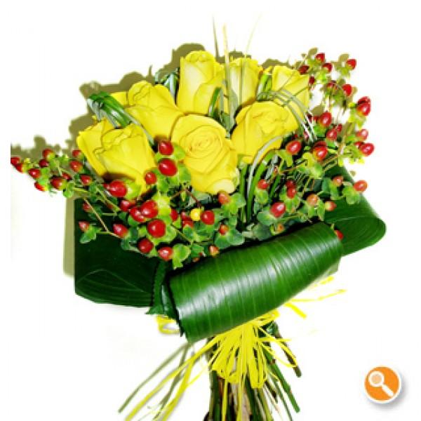 Bouquet de rosas amarelas - Volupia