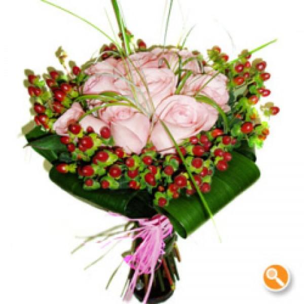 Bouquet de rosas - cor de rosa