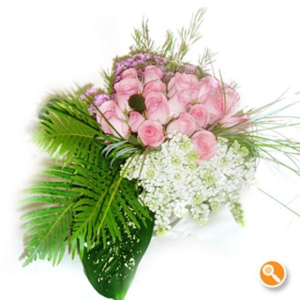 Bouquet rosas cor de rosa - Pink Lady