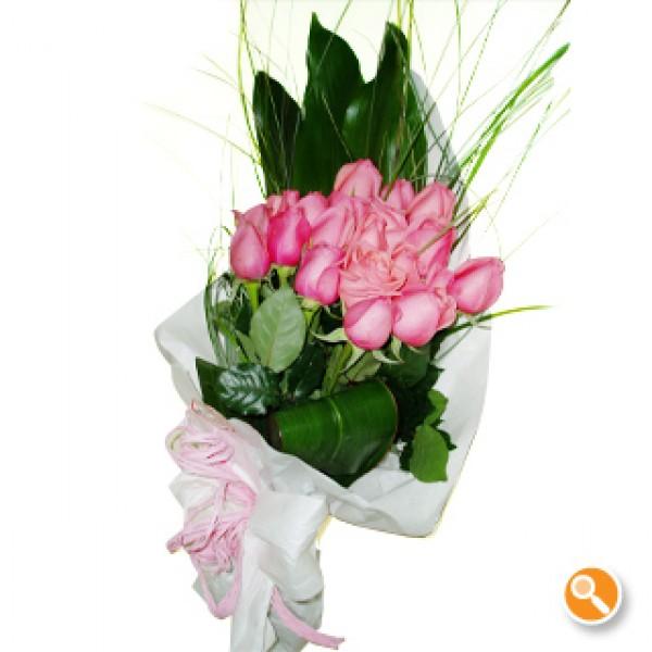 Ramo de rosas cor de rosa - Calipo Rosa