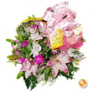 Cesta de flores mistas - Joana