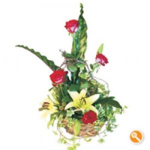 Cesta de rosas e coroa imperial - Melodia