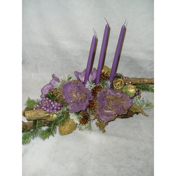 Tronco de Natal Violeta