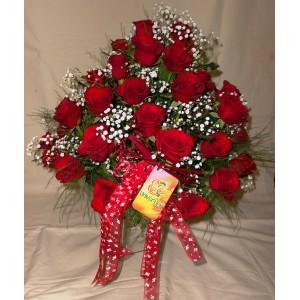 Arranjo de Rosas Vermelhas - Francesinha