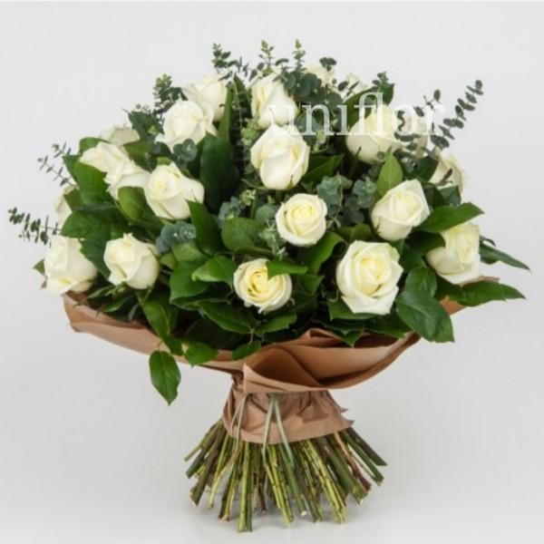 Bouquet Mundial com Rosas Brancas