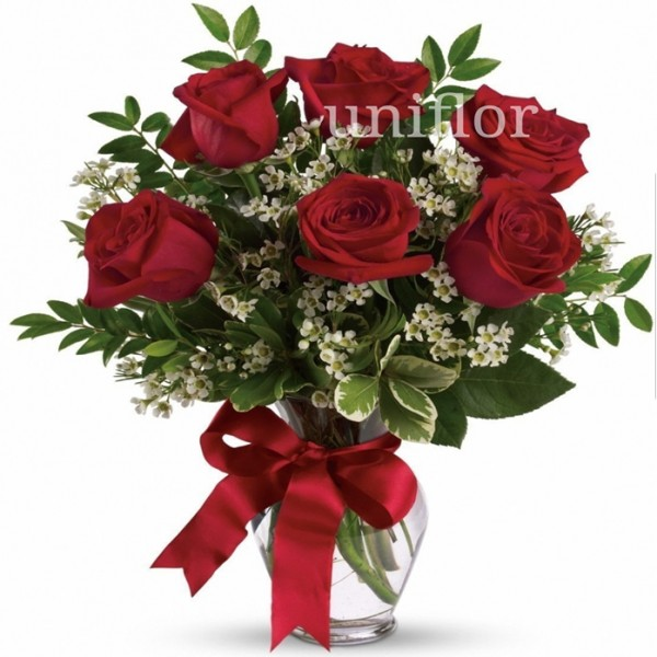 Jarra de Rosas Red Naomi